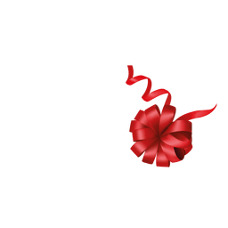 Red floral ribbon