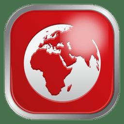 Rotes Globus-Symbol