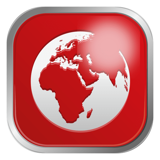 Red globe icon Transparent PNG