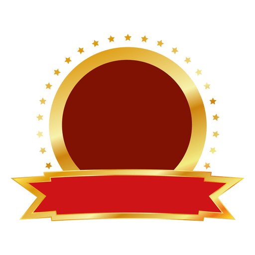 red gold round badge transparent png   svg vector gold star clip art free images gold star clip art images