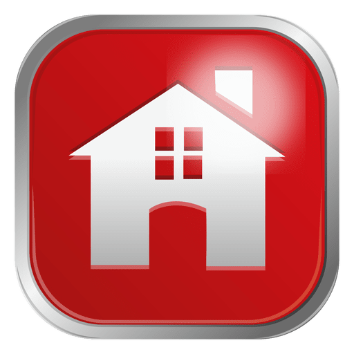 Red house icon Transparent PNG