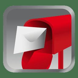 Icono de cuadro de mensaje rojo