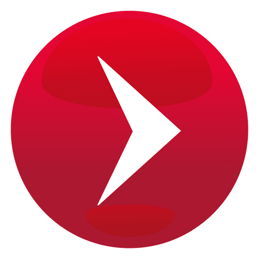 Red play round button