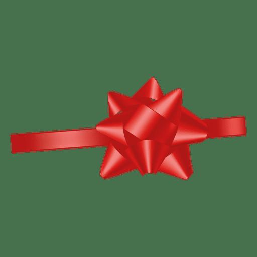 Decoracion cinta roja Transparent PNG