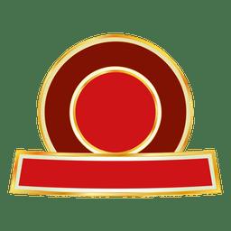 etiqueta redonda de color rojo 3