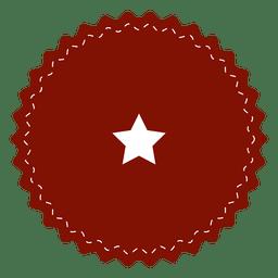 Red starry emblem