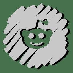 Ícone distorcido Reddit