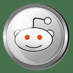 Botón redondo reddit de metal.