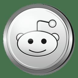 Icono de plata de Reddit