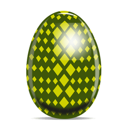 Rhomb pattern easter egg