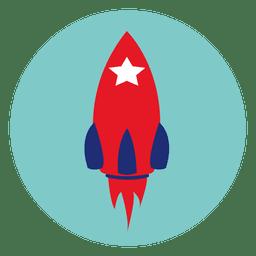 Rakete Runde Symbol