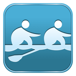 Rowing square icon