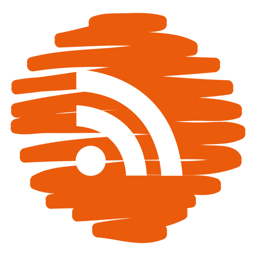 Rss distorted round icon Transparent PNG