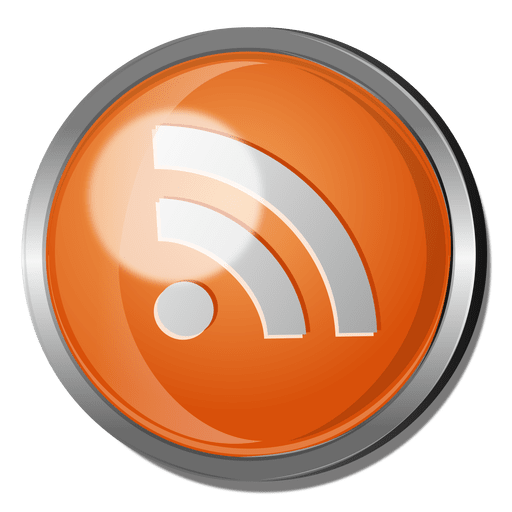 Rss round metal button Transparent PNG