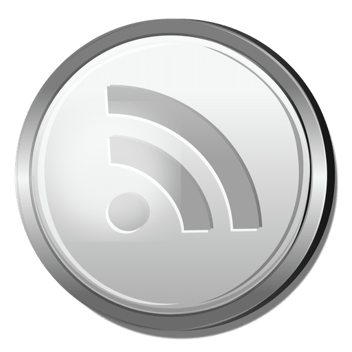 Rss silver icon Transparent PNG