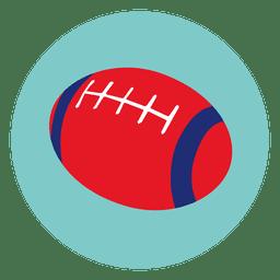Bola de rugby rodada ícone