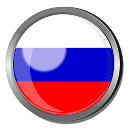 Russia flag badge