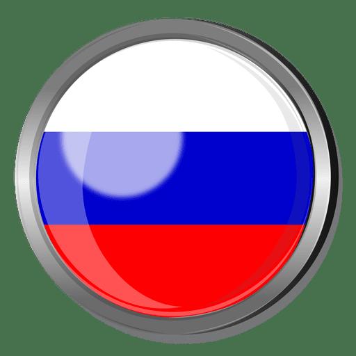 Crachá de bandeira da Rússia Transparent PNG
