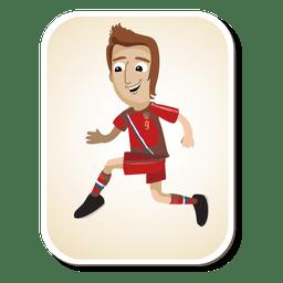 Dibujos animados de jugador de fútbol de Rusia