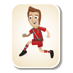 Russia football player cartoon