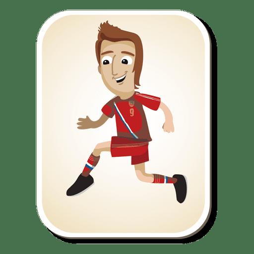 Desenho de jogador de futebol da Rússia Transparent PNG