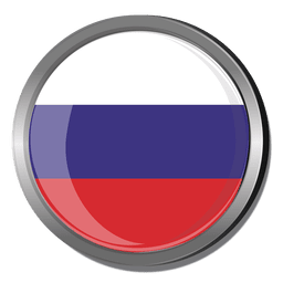 Russia round flag