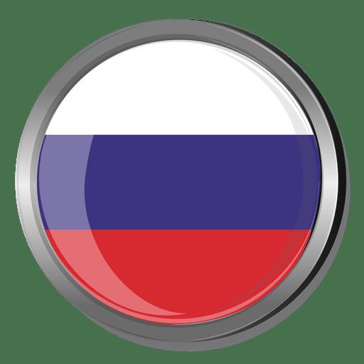 Bandera redonda rusia Transparent PNG