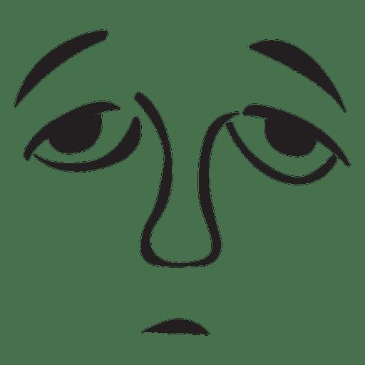 Emoticon de cara triste - Descargar PNG/SVG transparente