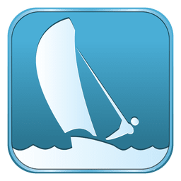 Sailing square icon