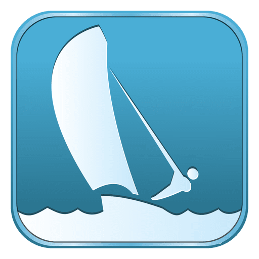 Sailing square icon Transparent PNG