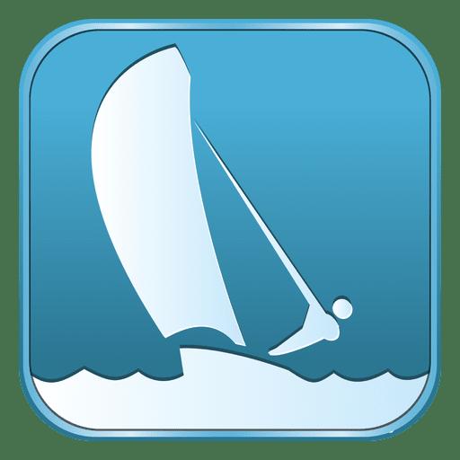 Sailing square icon