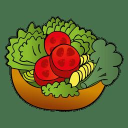 Desenhos animados de salada colorida