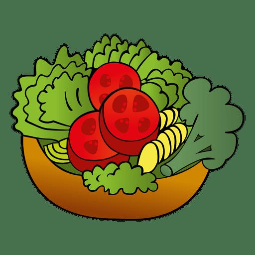 Dibujos animados de ensalada colorida