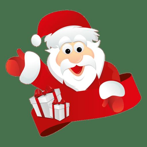Santa claus ribbon