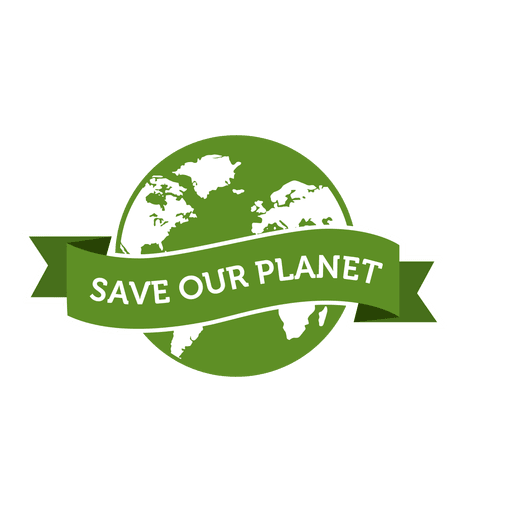 Save our planet badge Transparent PNG