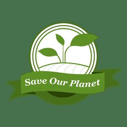 Salvar nuestro planeta etiqueta