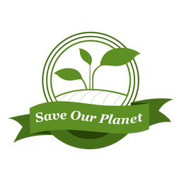 Save our planet label