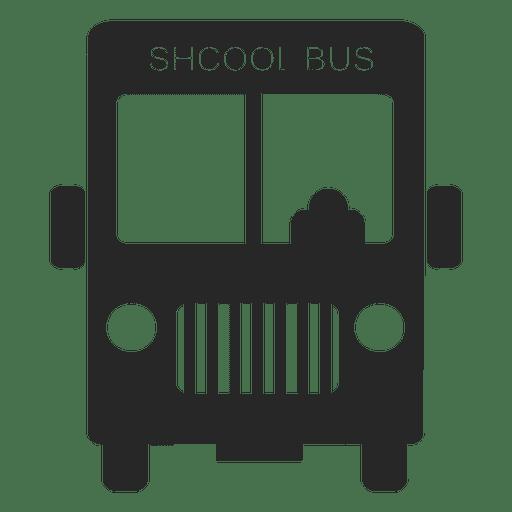 School bus front Transparent PNG