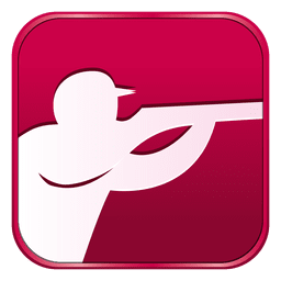 Shooting square icon