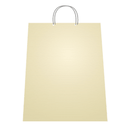 Shopping bag blank