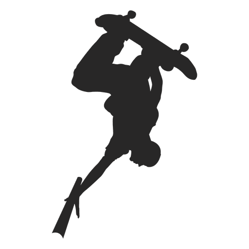 Skateboarding silueta 3