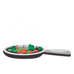 Frigideira com vegetais
