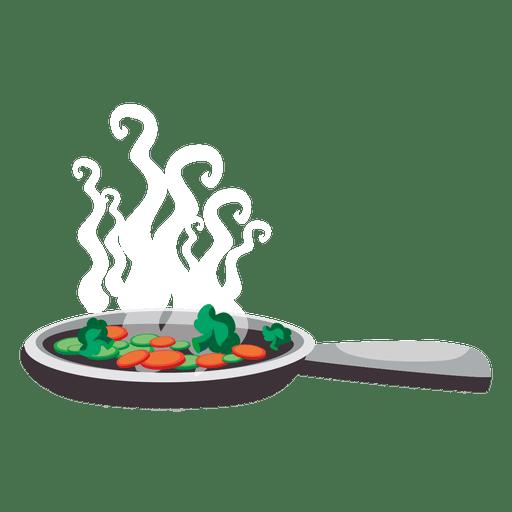 Skillet with vegetable Transparent PNG