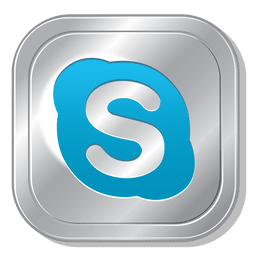 Skype metallic button