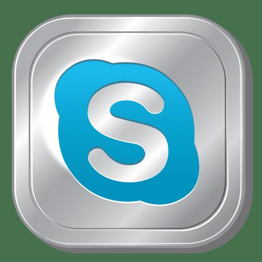 Skype Metallic Button Transparent Png Svg Vector File