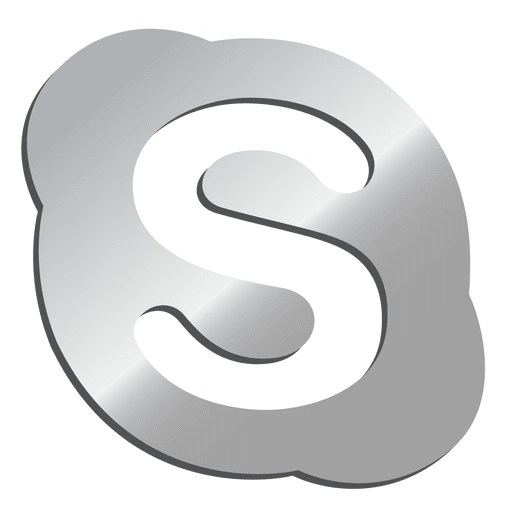 Skype Silver Icon Transparent Png Svg Vector File