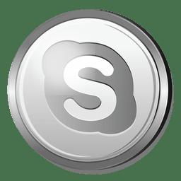 Icono 3D de Skype Silver