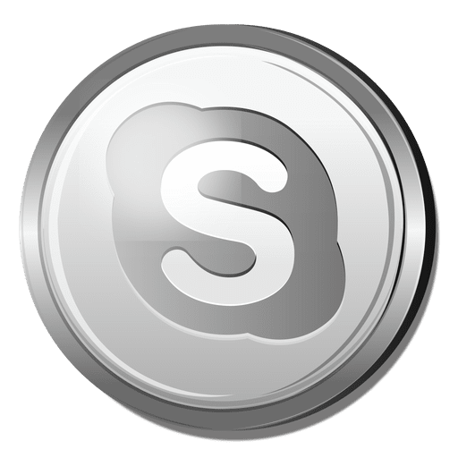 3d Skype Silver Icon Transparent Png Svg Vector File