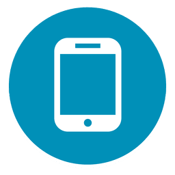 Icono redondo de smartphone