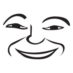 Smile hand drawn emoticon